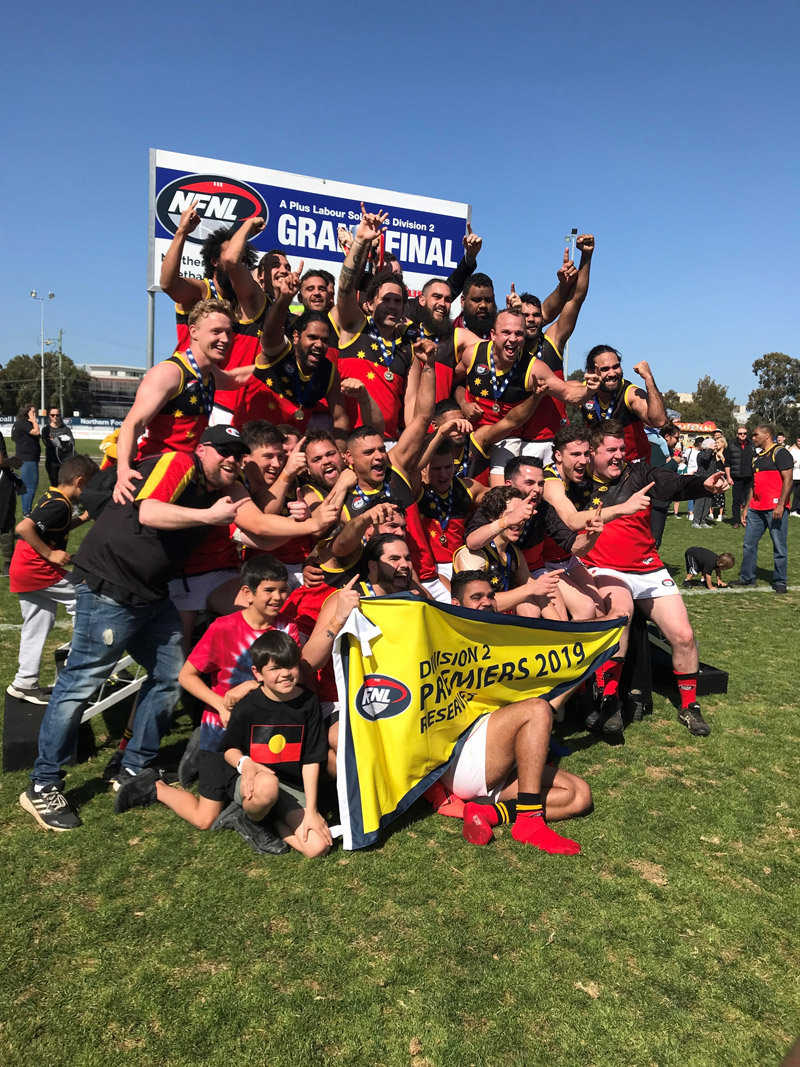 Fitzroy Stars Champion Football Team 2019